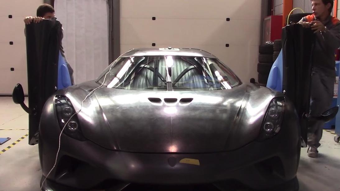 Crash testing $2M Koenigsegg supercar