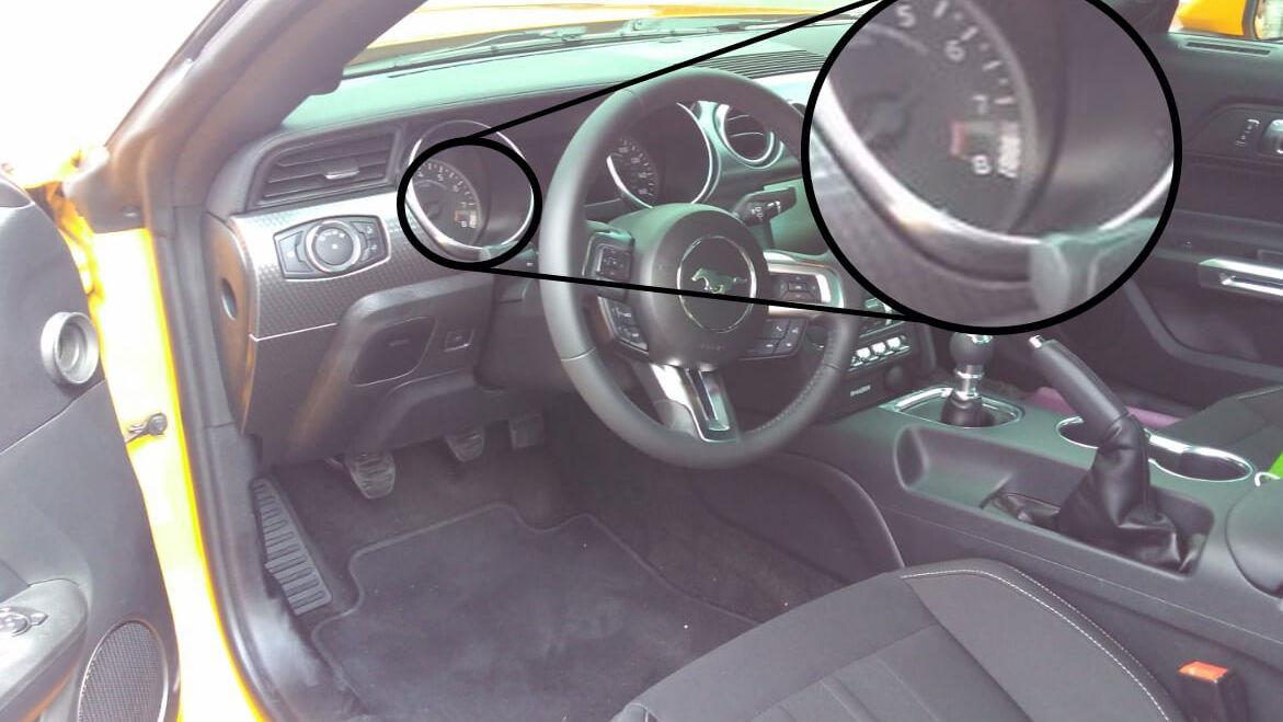 2018 Ford Mustang analog gauge cluster - Image via Mustang6G/CJ Pony Parts