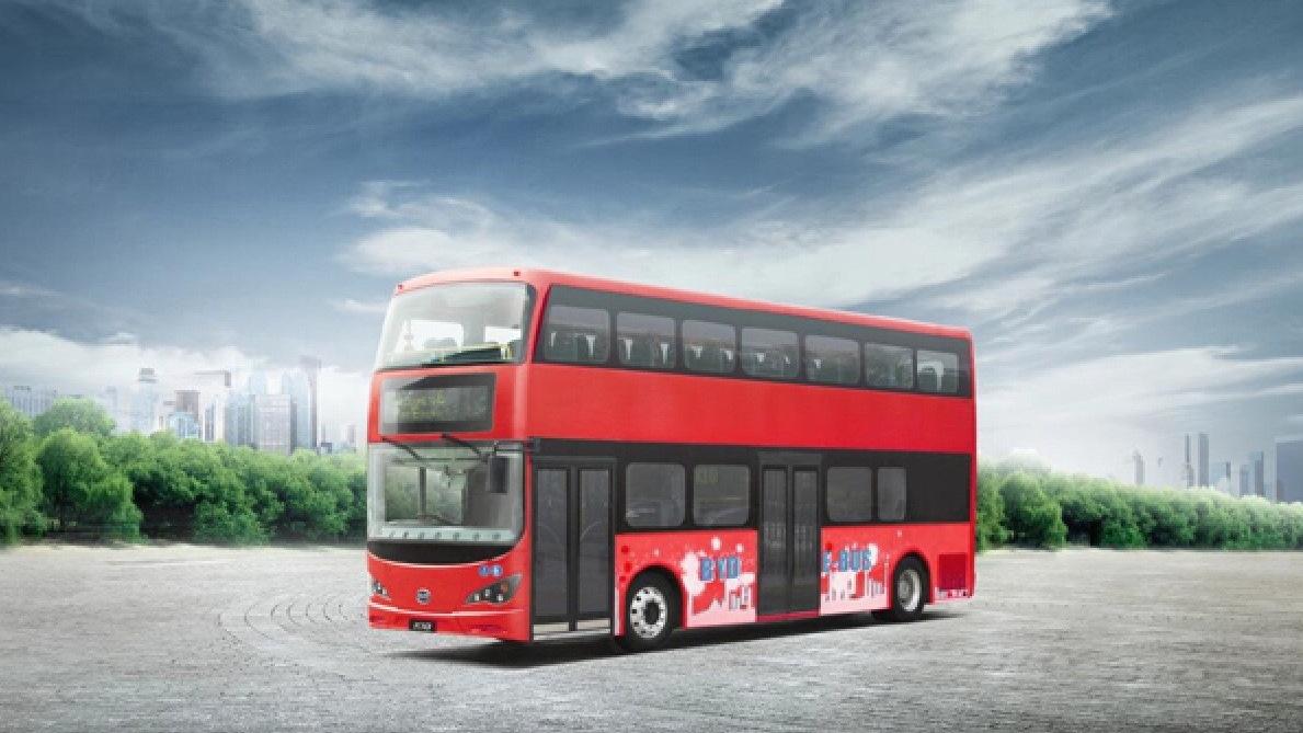 BYD London double-decker bus