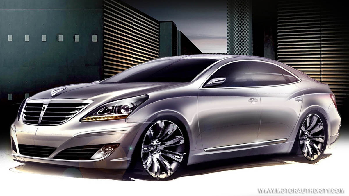 hyundai equus vi sedan official sketch 001