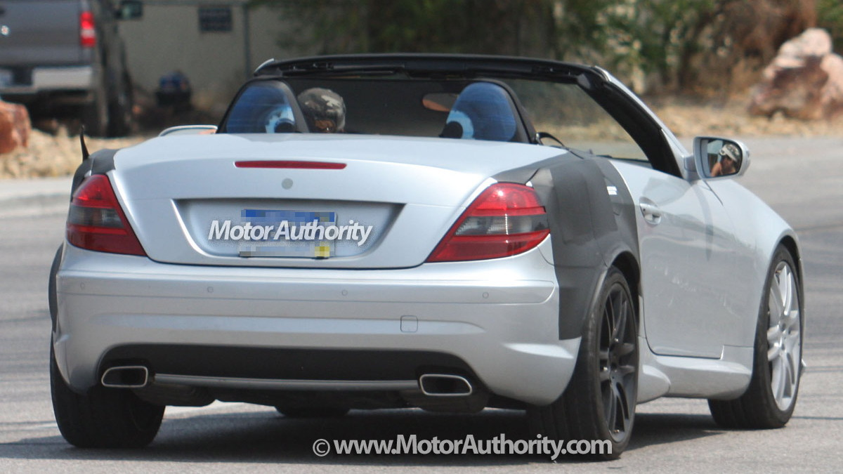mystery mercedes benz slk spy shots 004