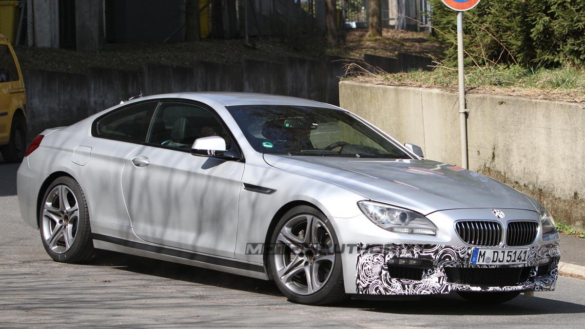 2012 BMW 6-Series Coupe with M Sports Package spy shots