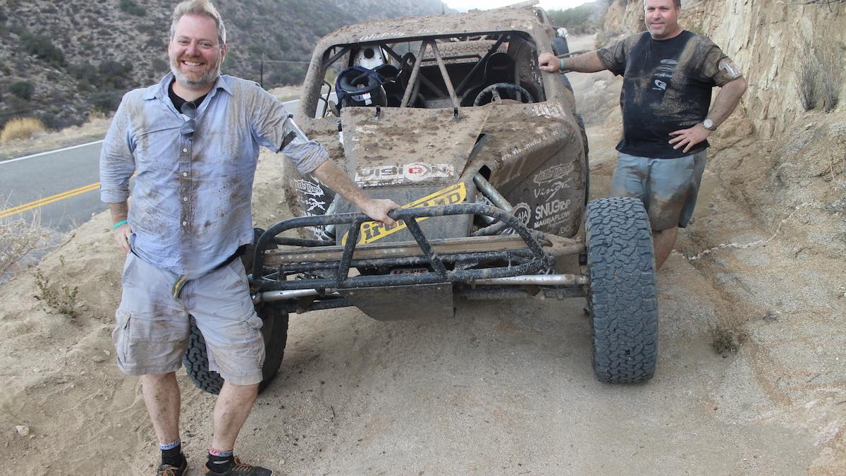 John Coyle (left) during his test of the BFGoodrich KO2 tire in Baja. Image via Ford-Trucks.com.