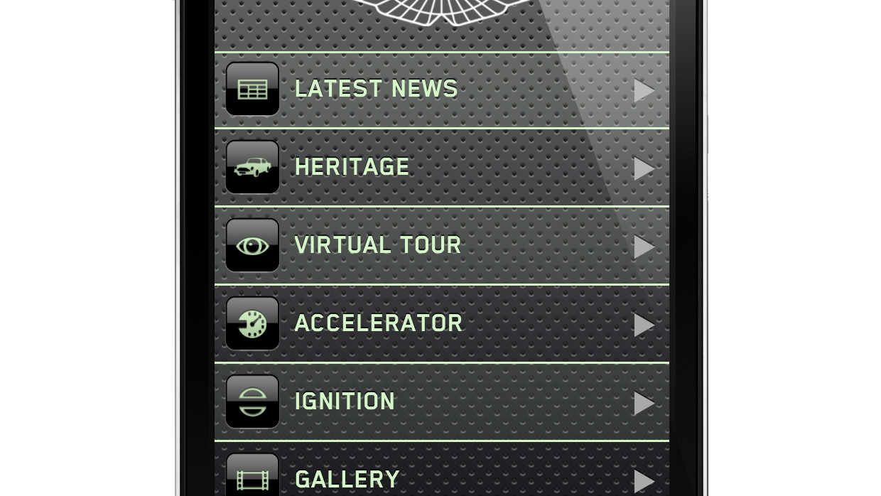 Aston Martin 'Explore' iphone App