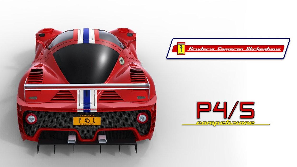 Ferrari P4/5 Competizione final rendering