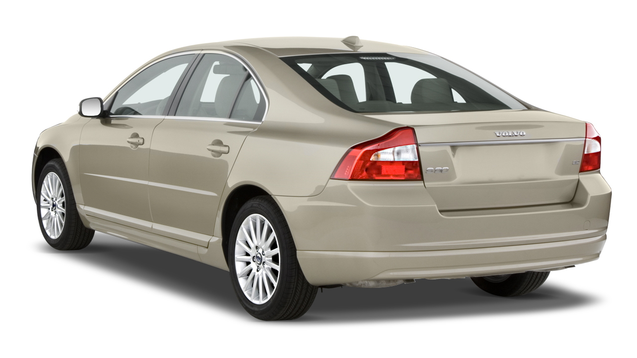 2010 Volvo S80 4-door Sedan I6 FWD Angular Rear Exterior View