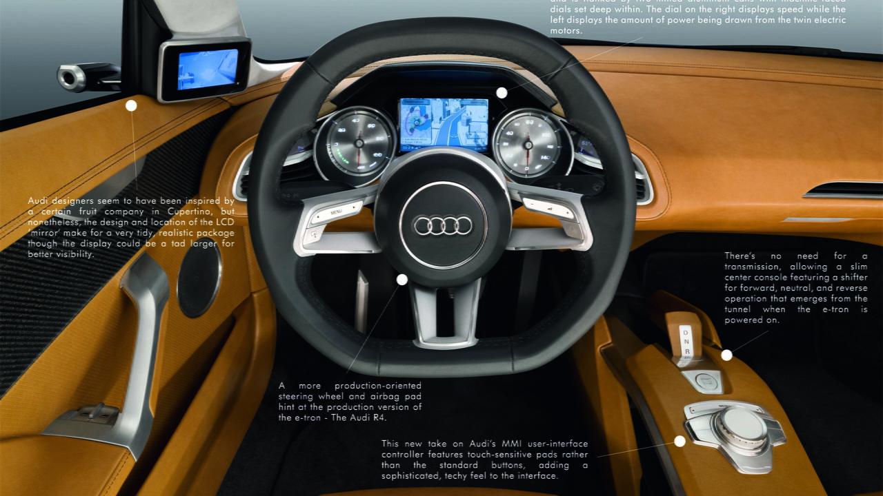 2010 Audi e-tron Detroit Concept (Interior)