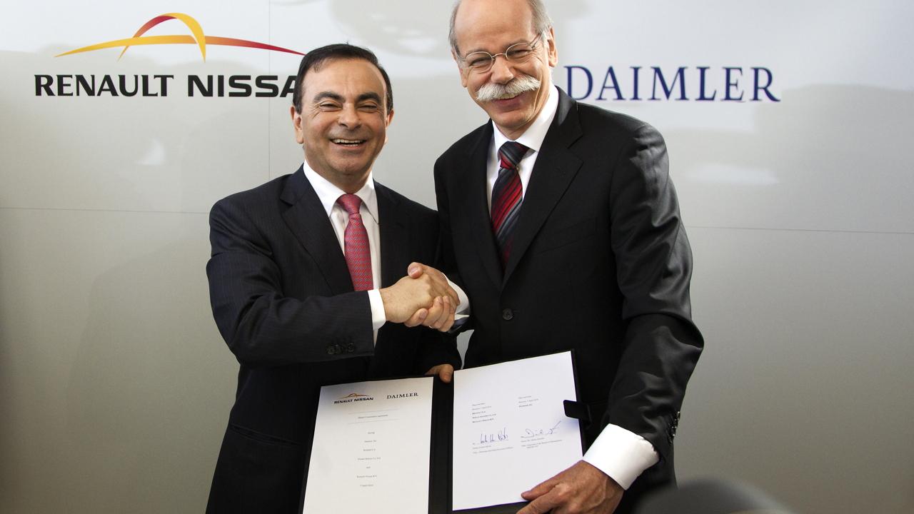 Carlos Ghosn (left) and Dieter Zetsche