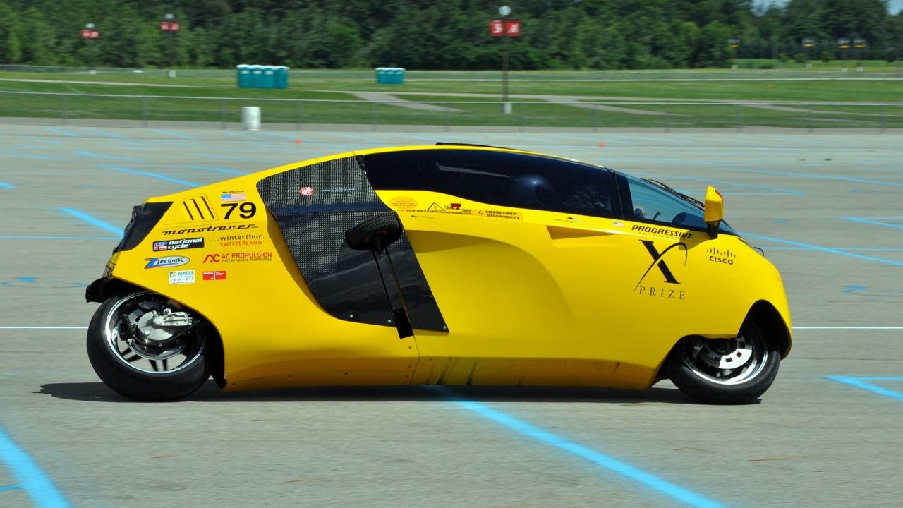 Peraves E-Tracer, winner of Progressive Automotive X-Prize. Photo: Stefano Paris.