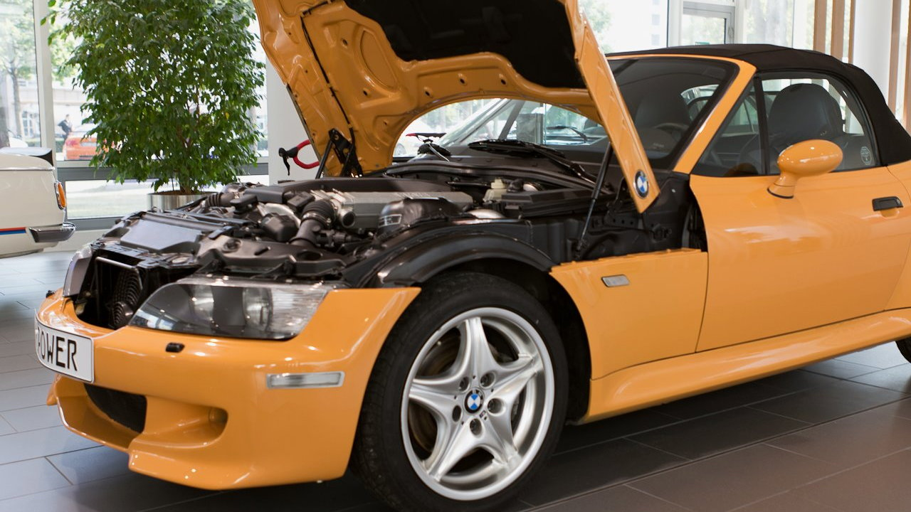 BMW M's mysterious V-12 powered Z3 roadster, as posted to Facebook