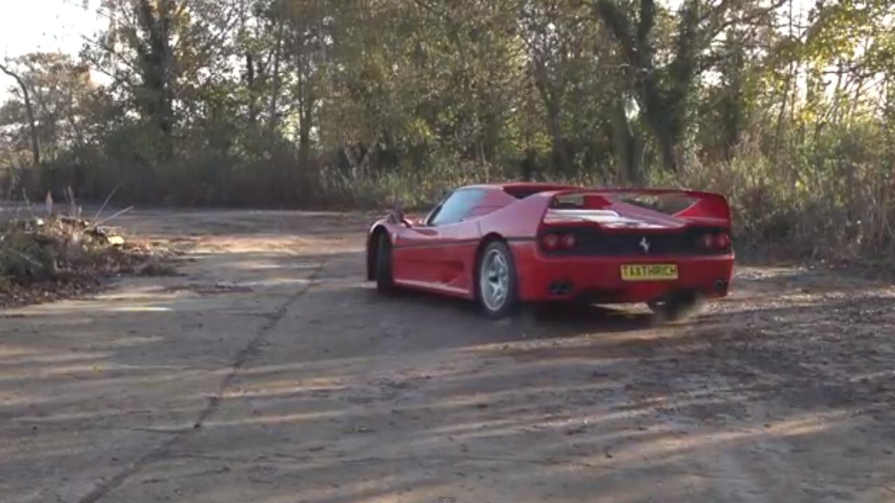 Tax The Rich drifts a Ferrari F50.