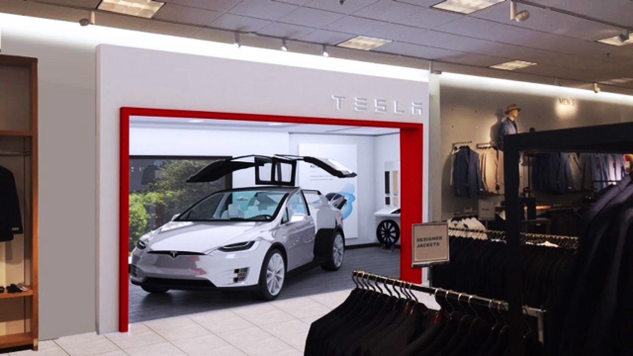 Tesla gallery at Nordstrom