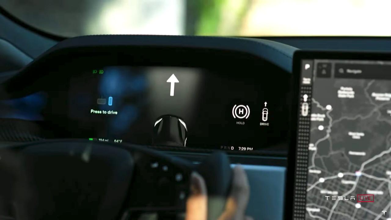 Tesla Model S Plaid  -  press to drive
