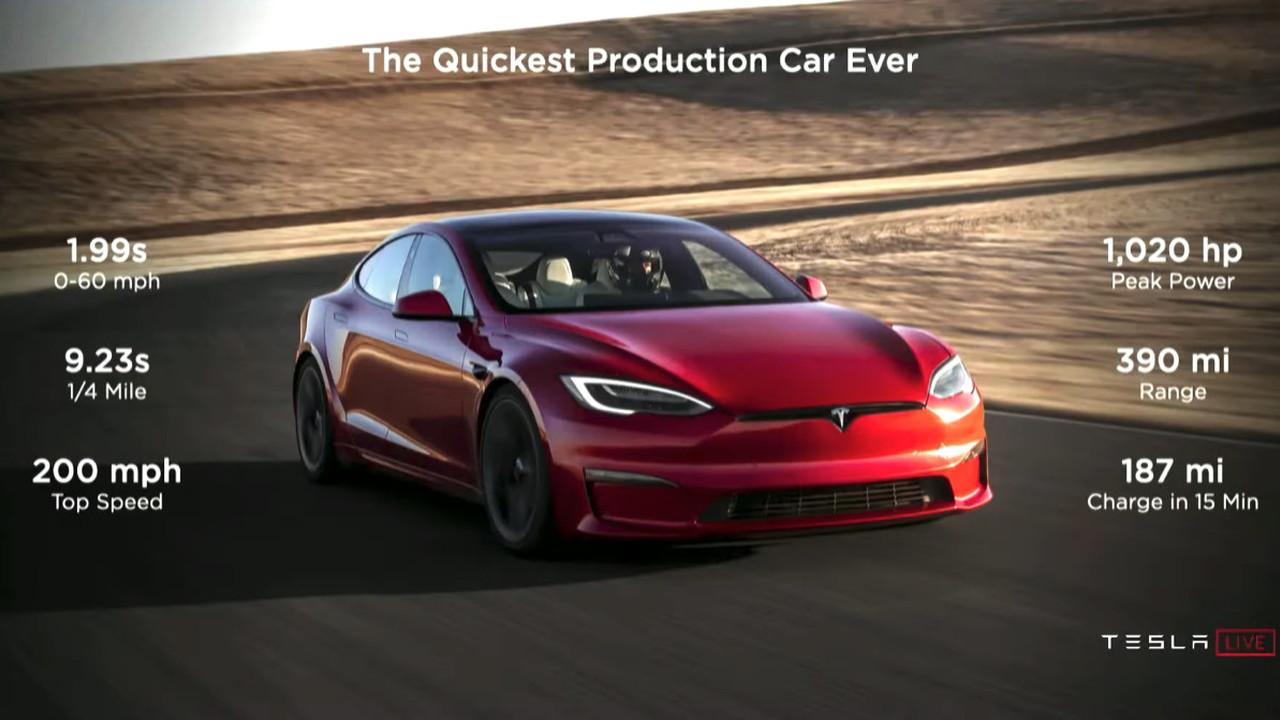 Tesla Model S Plaid specs