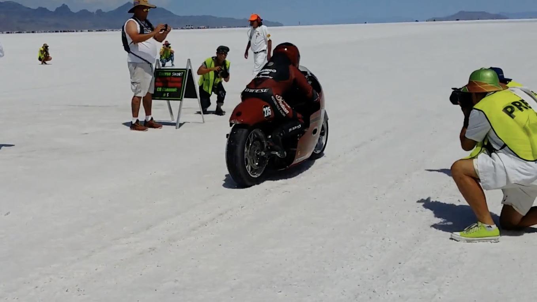 Lee Munro at Bonneville Salt Flats