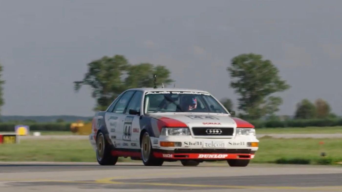 Ken Block drives the Audi V8 DTM