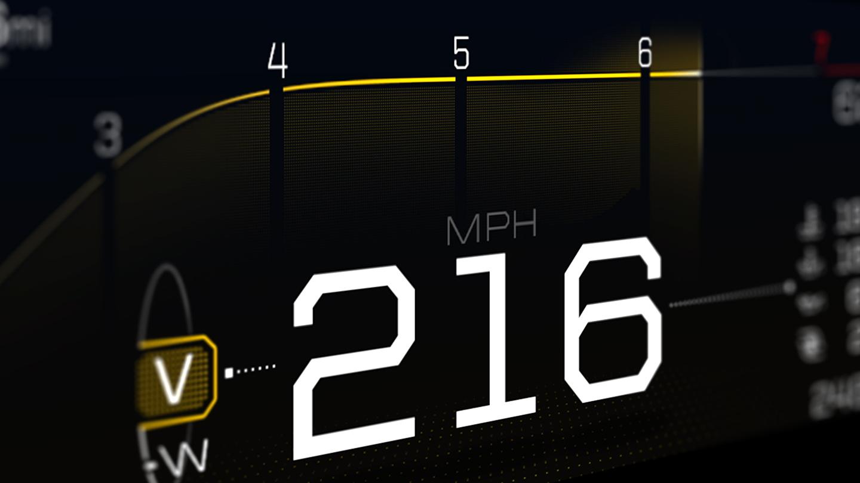 Ford GT instrument cluster V-Max mode