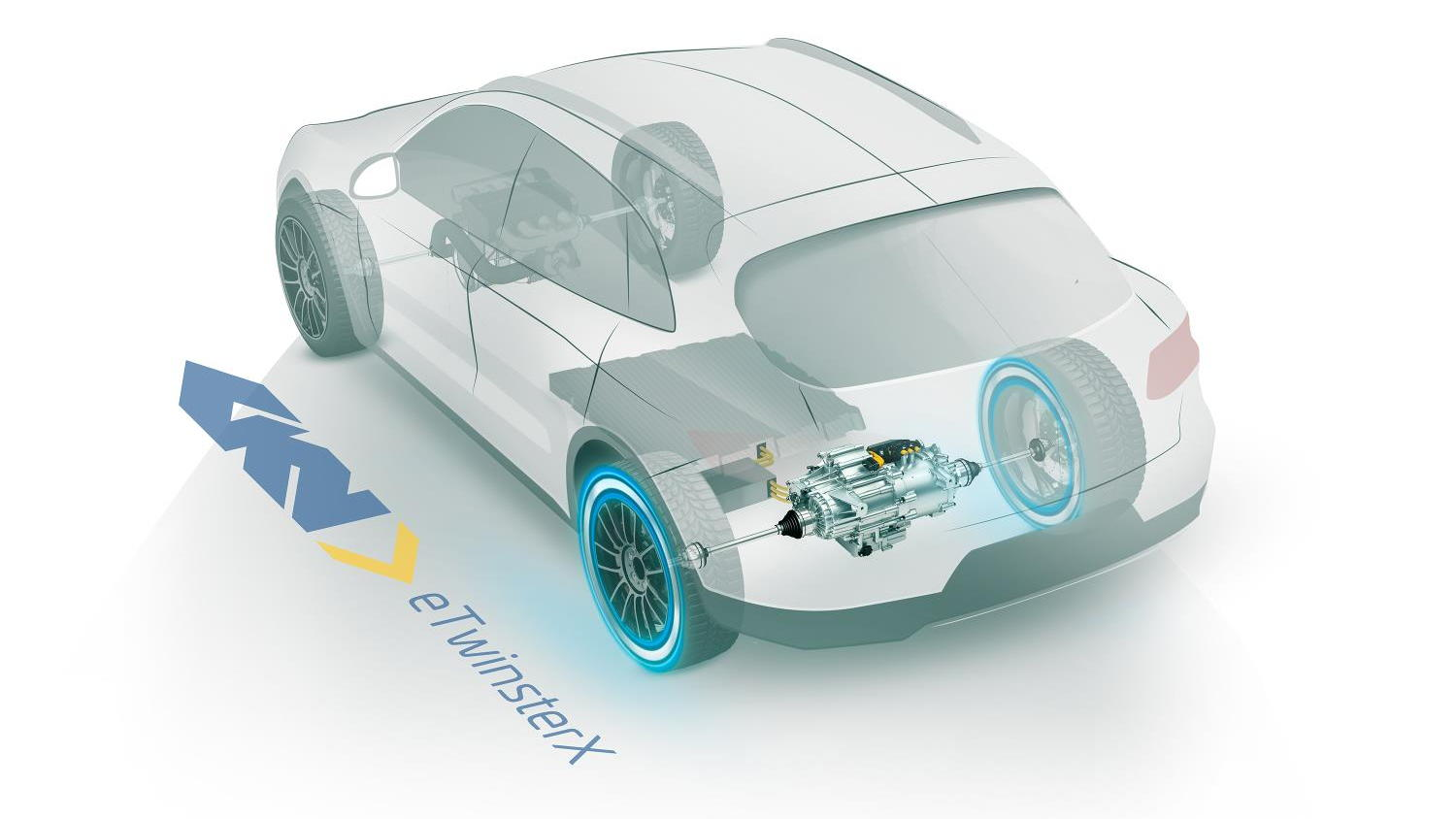 GKN Twinster eAxle in a FWD application