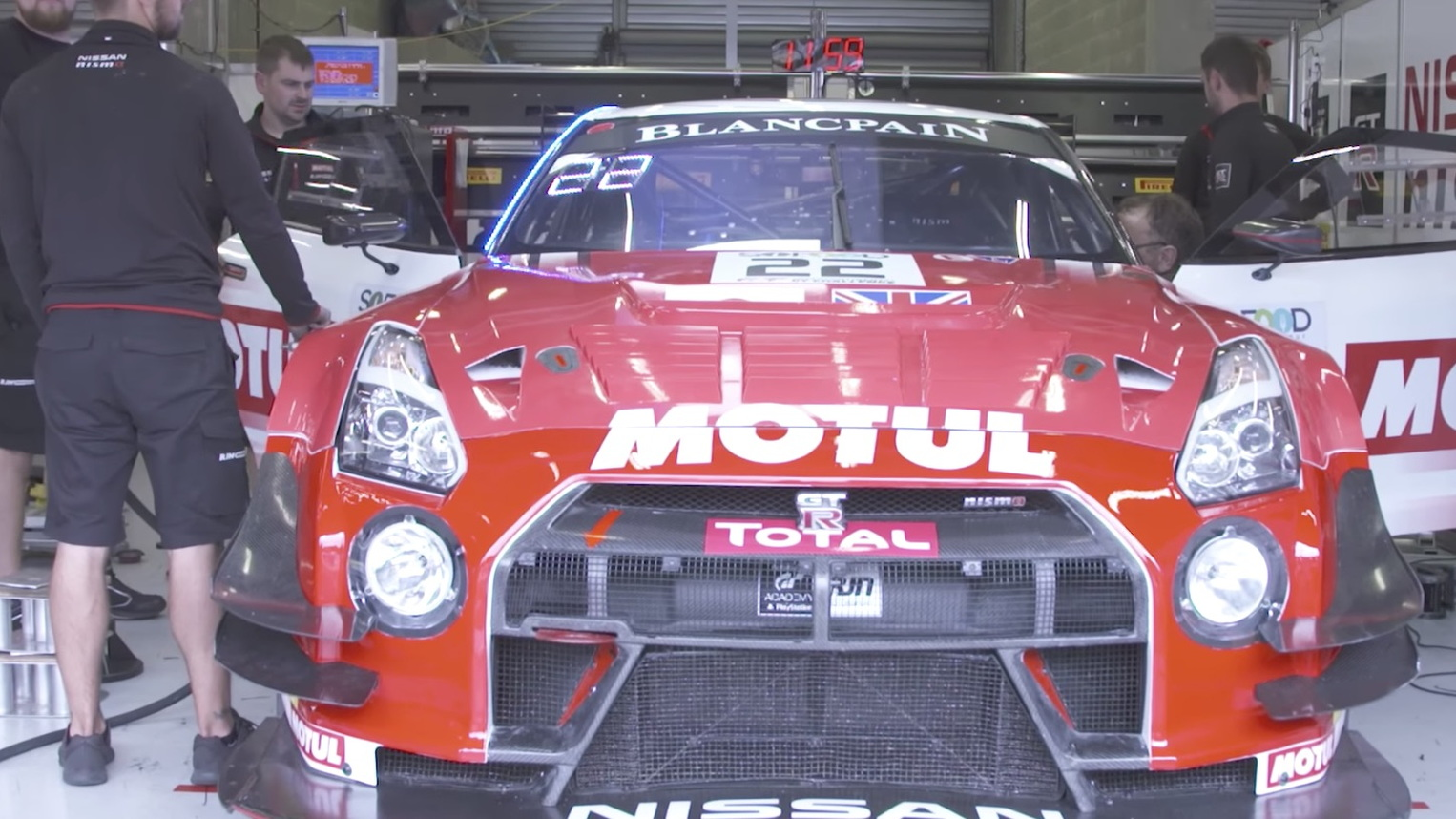 Rebuilt Nismo GT-R GT3 race car