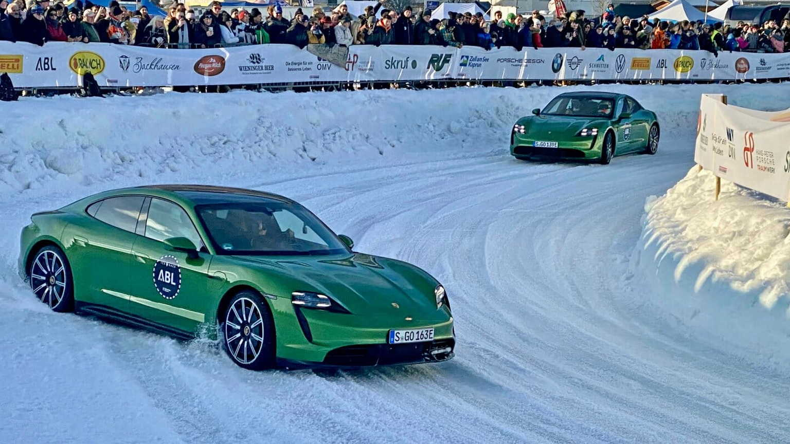Porsche Taycan at the second GP Ice Race weekend
