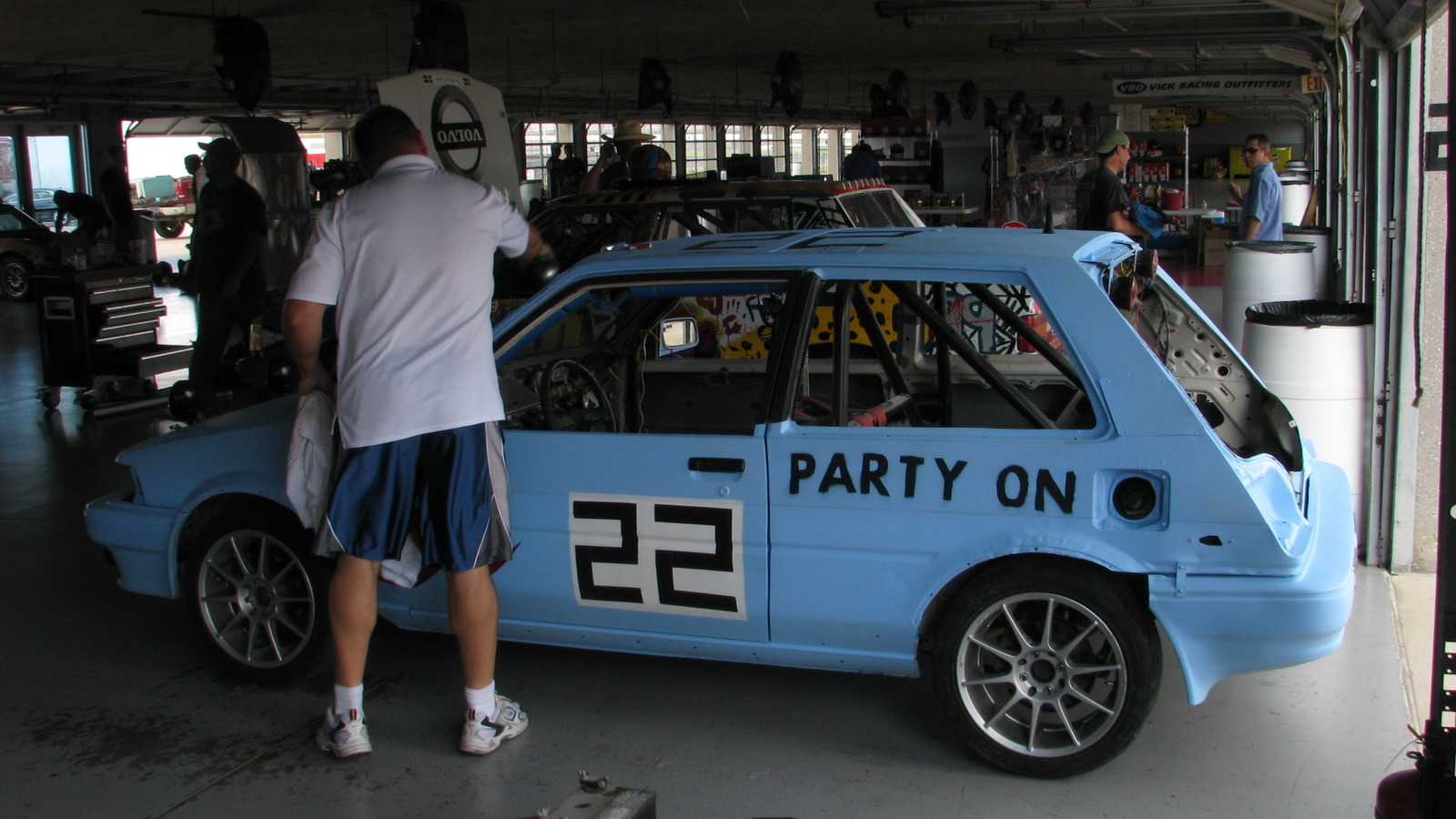 2010 Chumpcar Texas Motor Speedway, Friday Garage Photos
