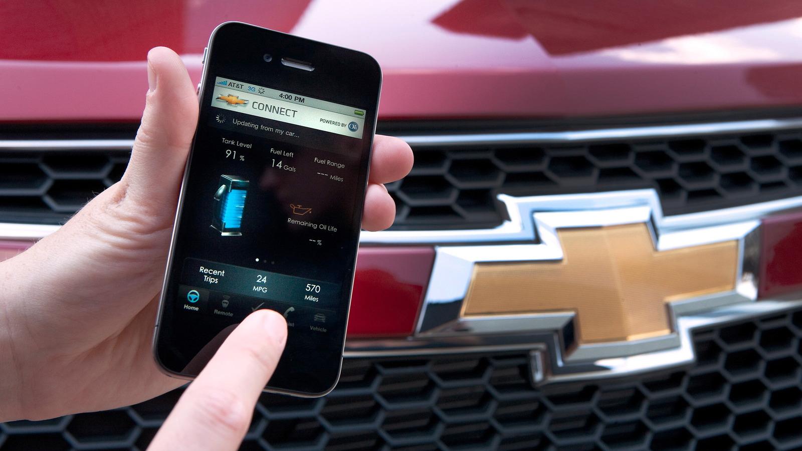GM's OnStar smartphone app technology