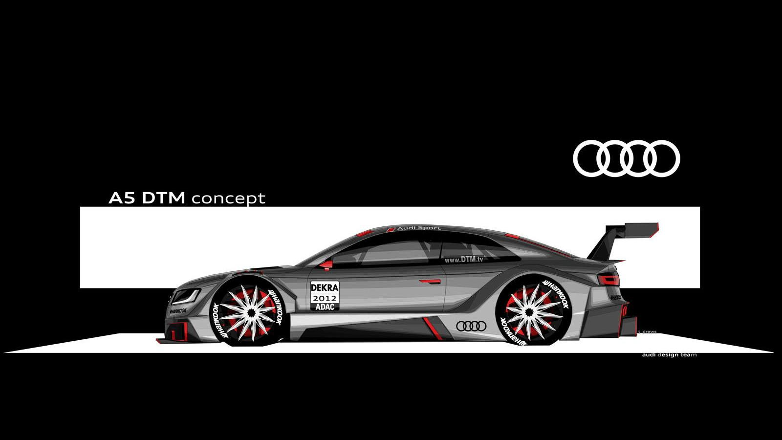 2012 Audi R17 A5 DTM race car preview sketch