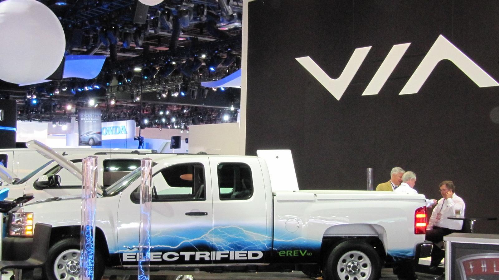 Via Motors extended-range electric truck conversion launch, 2012 Detroit Auto Show