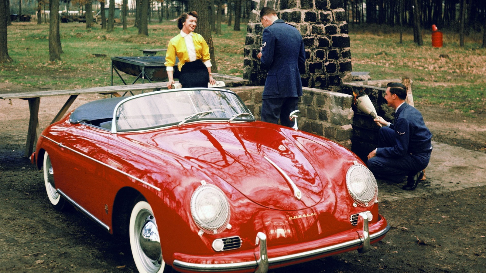 Classic Porsches from Mille Miglia history.