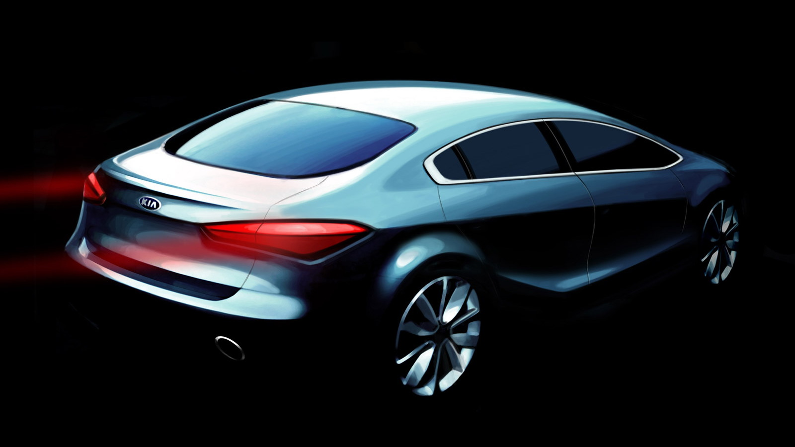 2014 Kia Forte Sedan teaser sketch
