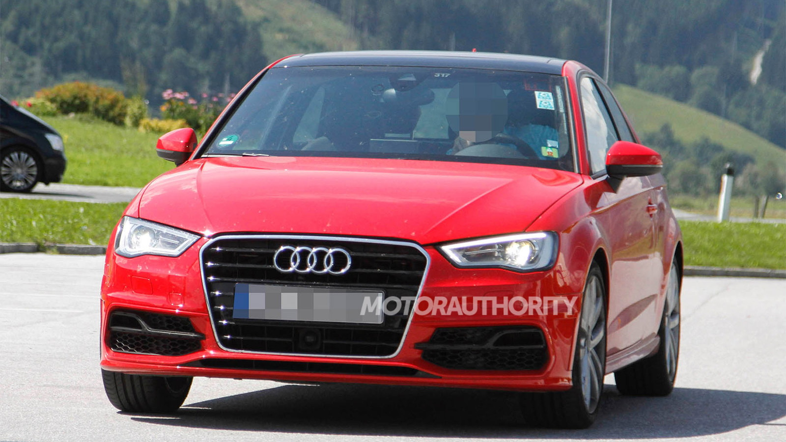 2014 audi s3 hatchback spy shots. Black Bedroom Furniture Sets. Home Design Ideas
