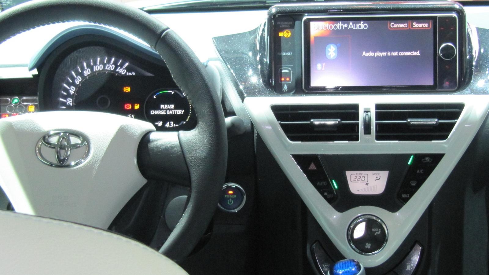 Toyota iQ EV electric car at 2012 Paris Auto Show