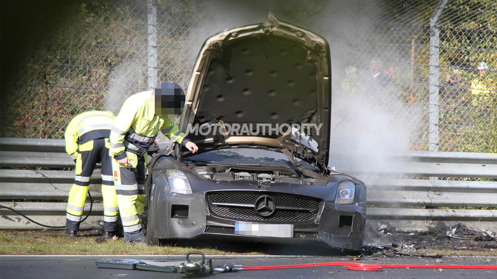 2014 Mercedes-Benz SLS AMG Black Series prototype crashes on the Nürburgring