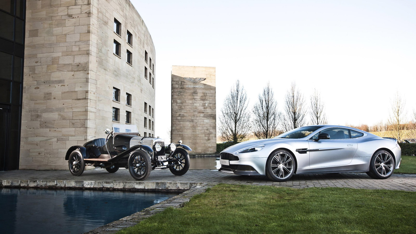 1921 Aston Martin A3 prototype and 2014 Aston Martin Vanquish