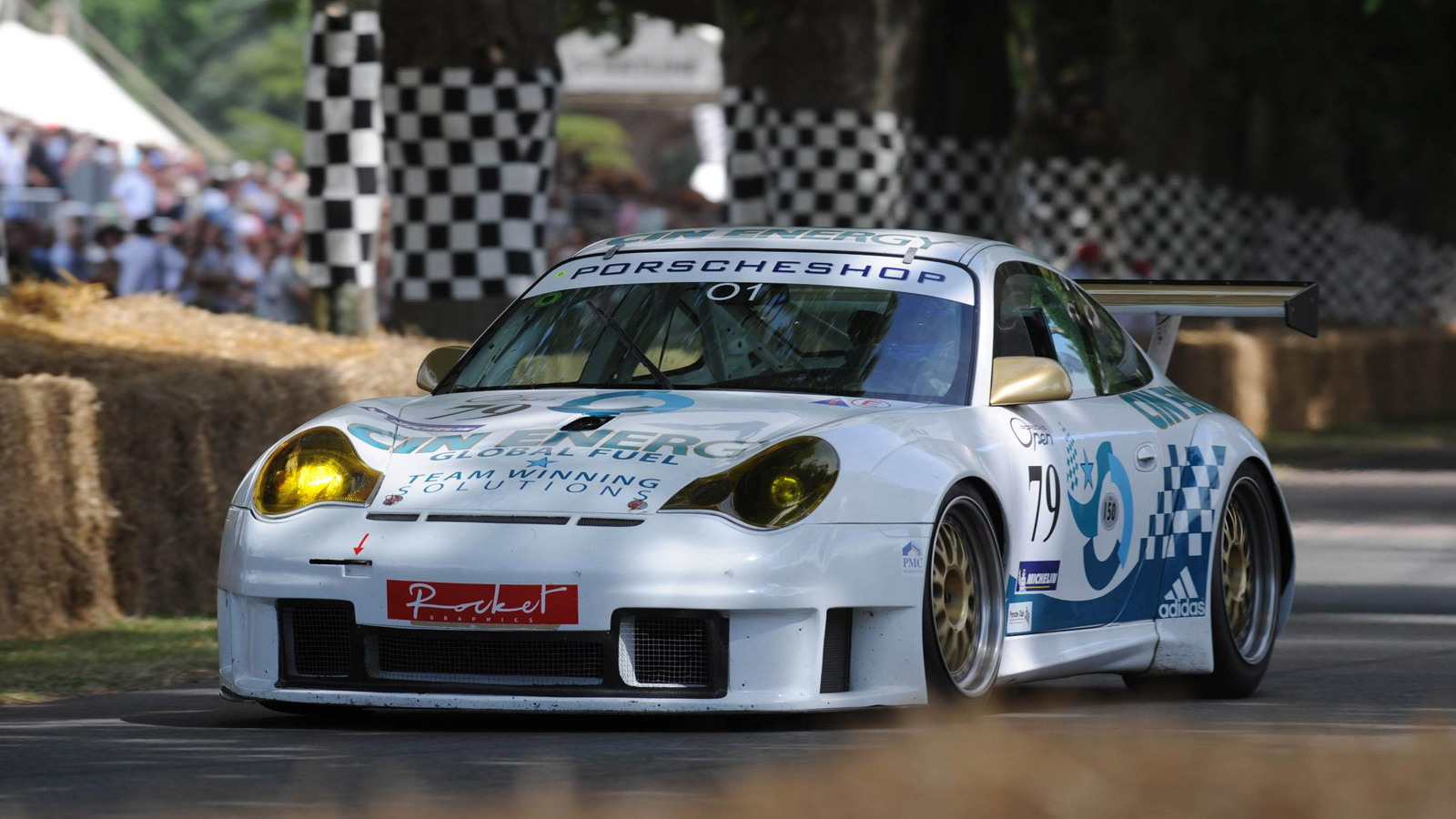 Historic Porsche 911s at the Goodwood Festival of Speed