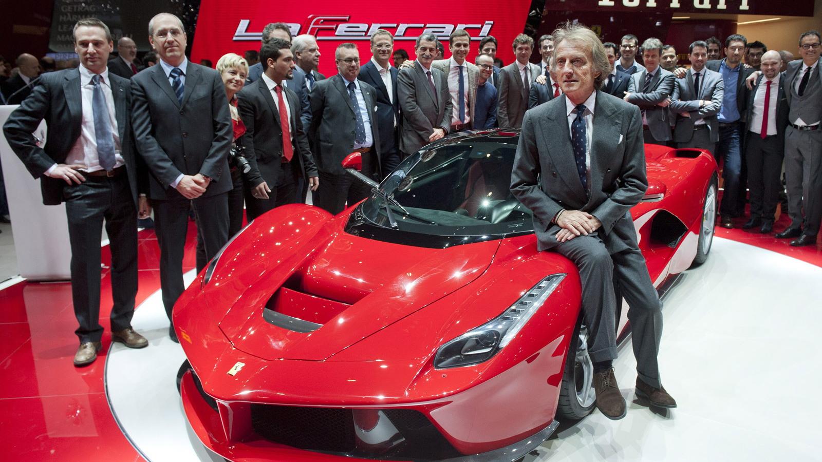 Luca di Montezemolo and the Ferrari LaFerrari