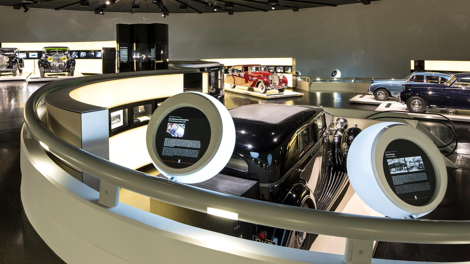 Rolls-Royce exhibition at the BMW Museum in Munich, Germany