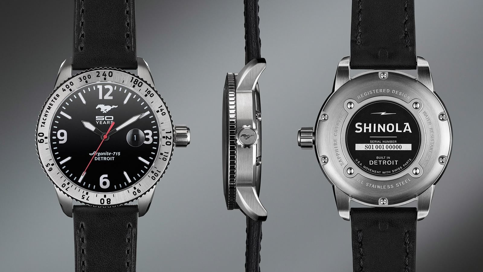 Shinola's Ford Mustang 50th Anniversary limited-edition watch