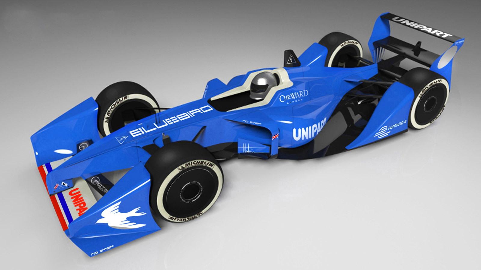 Bluebird GTL Formula E race car