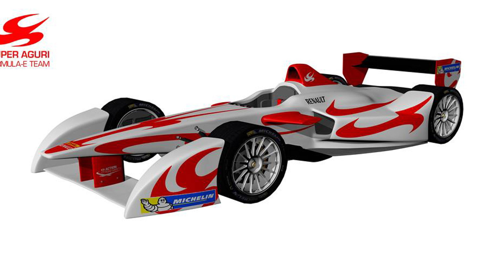 2014 Super Aguri Formula E electric race car