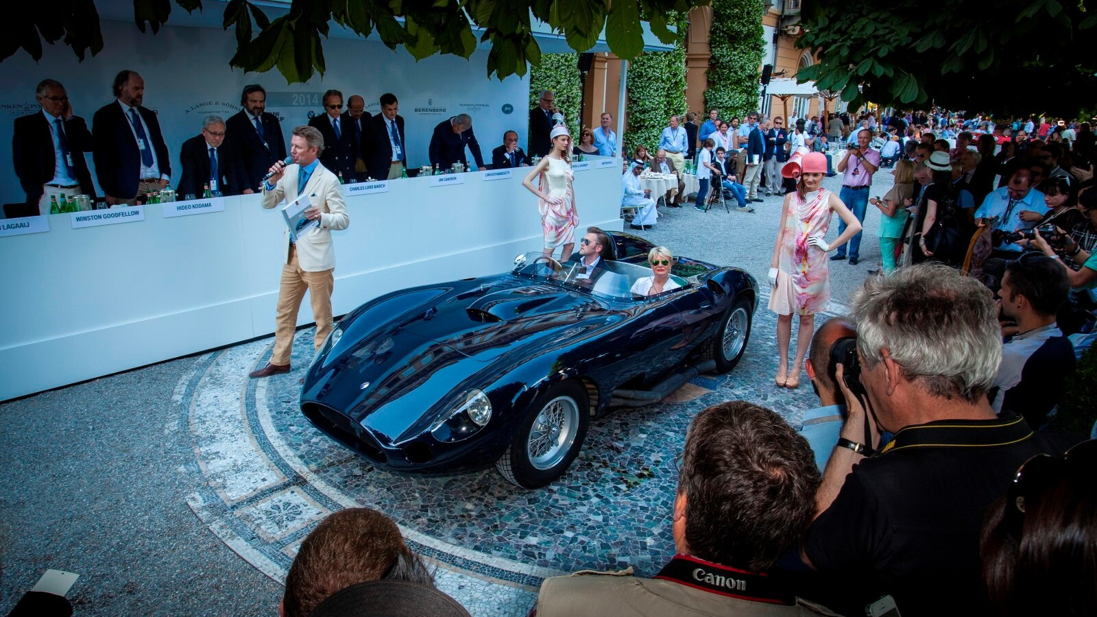1956 Maserati 450S at the Concorso d'Eleganza Villa d'Este 2014