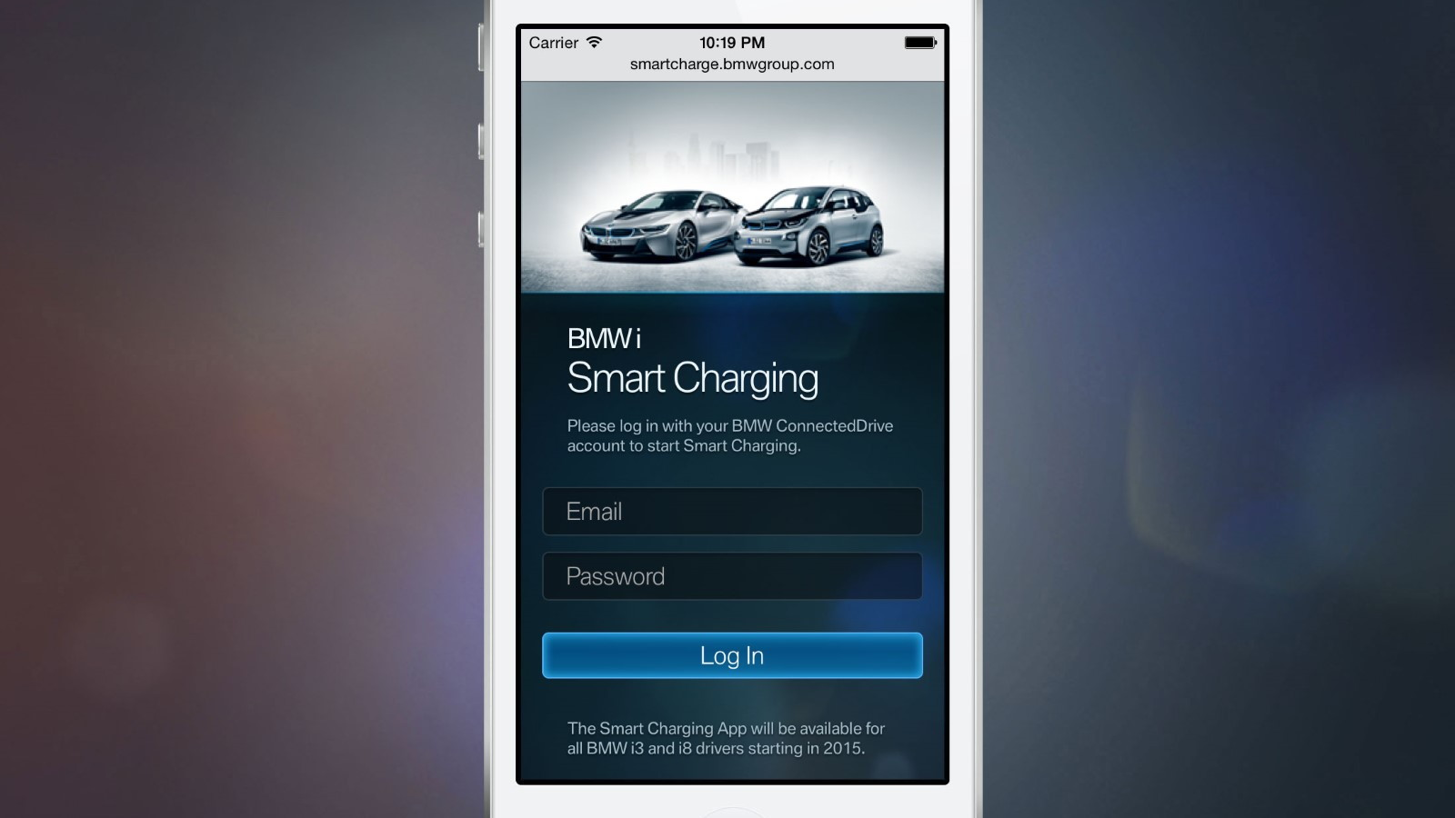 BMW Smart Charging App for i3 and i8