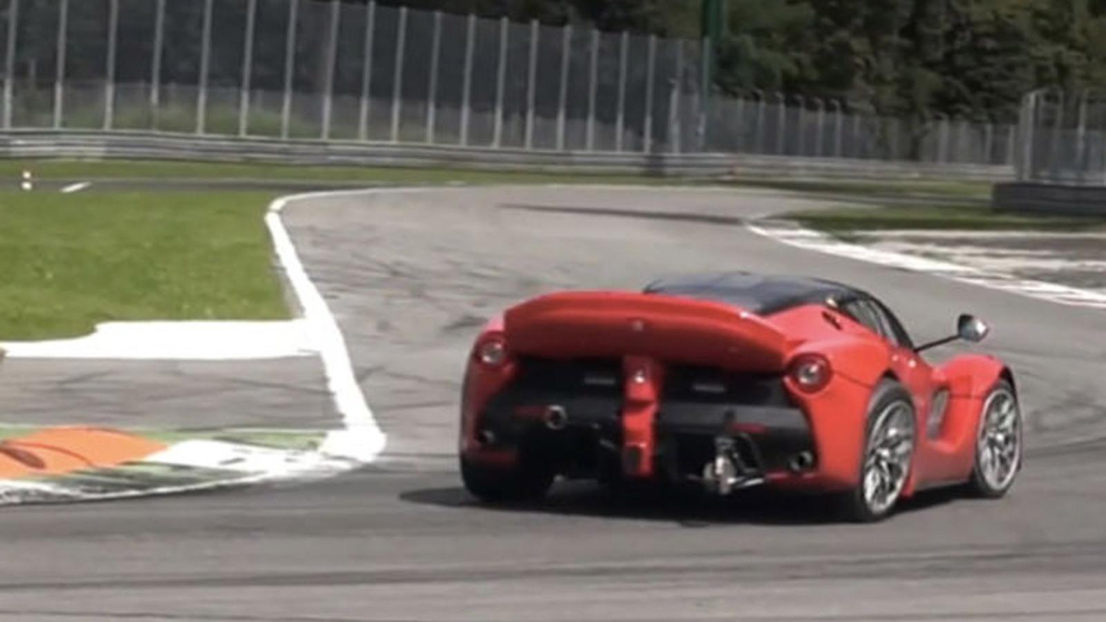 Ferrari LaFerrari XX prototype with right rear wheel out of alignment