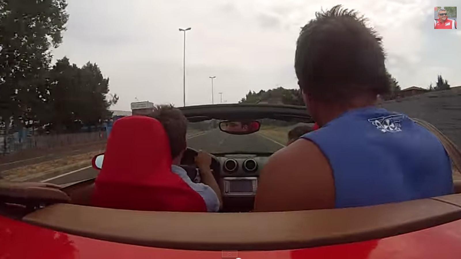 Ferrari test drive in Maranello moments before crash