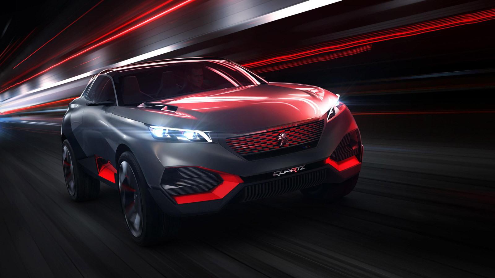 Peugeot Quartz concept, 2014 Paris Auto Show