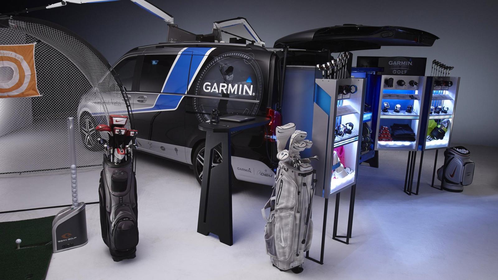 Mercedes-Benz Metris Mobile Golf Pro Shop by Garmin, 2014 SEMA show