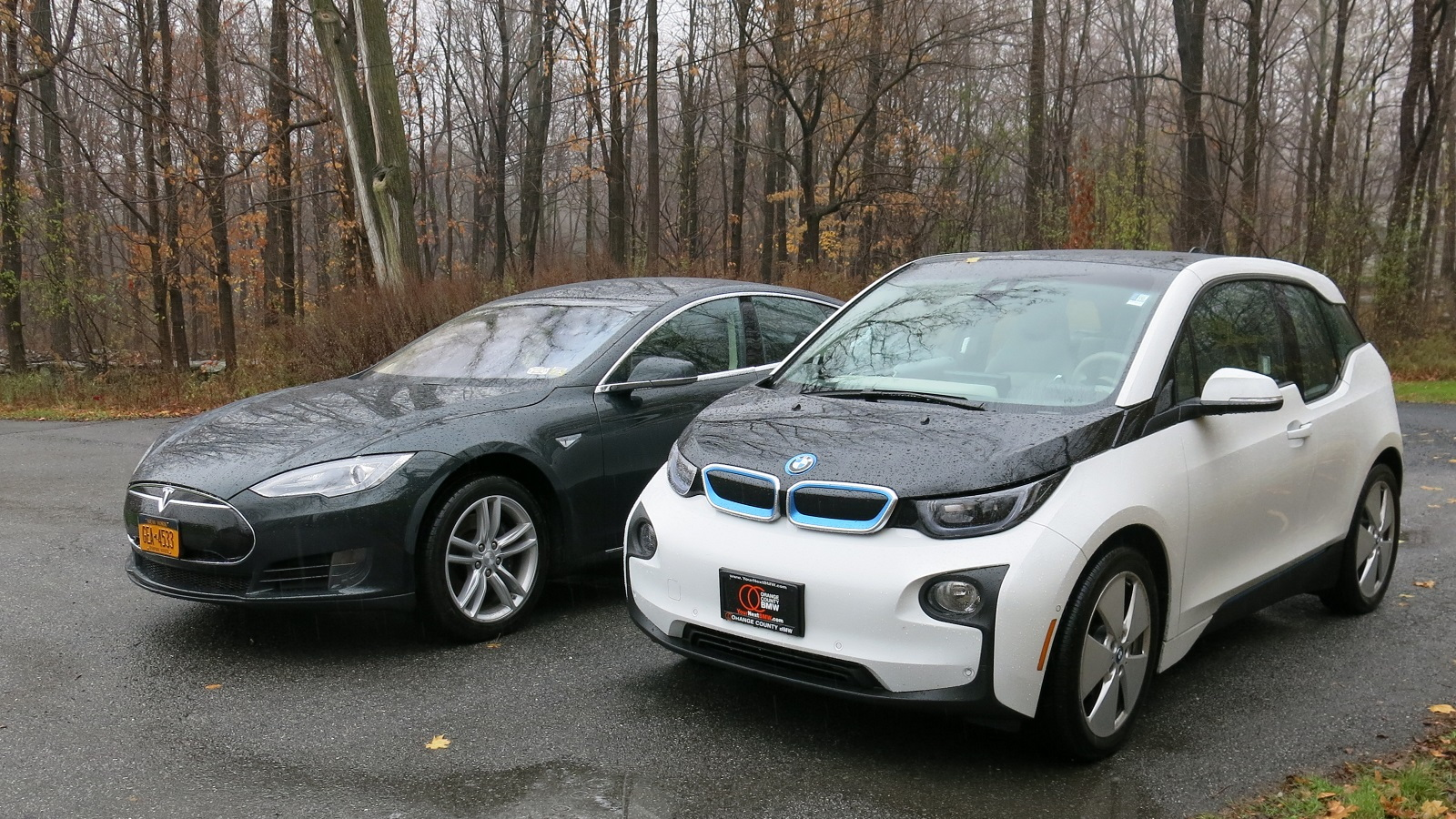 tesla model s vs bmw i3 electric car efficiency comparison test tesla model s vs bmw i3 electric car
