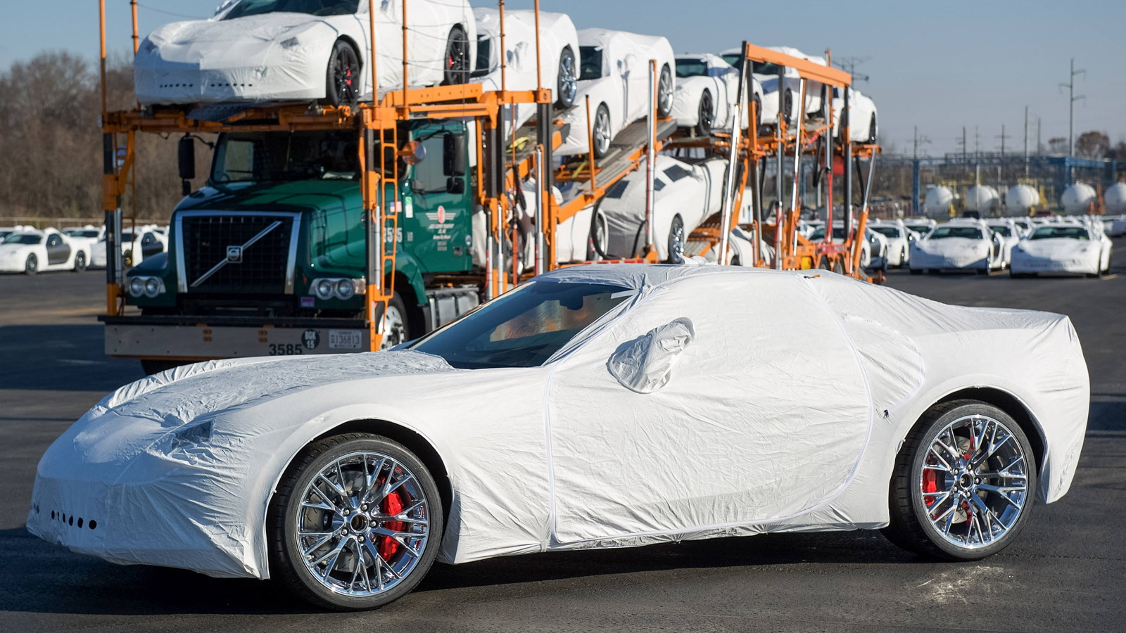 2015 Chevrolet Corvette Z06 being shipped out to dealers