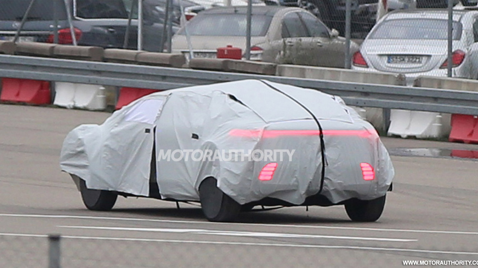 Mercedes-Benz autonomous car concept spy shots