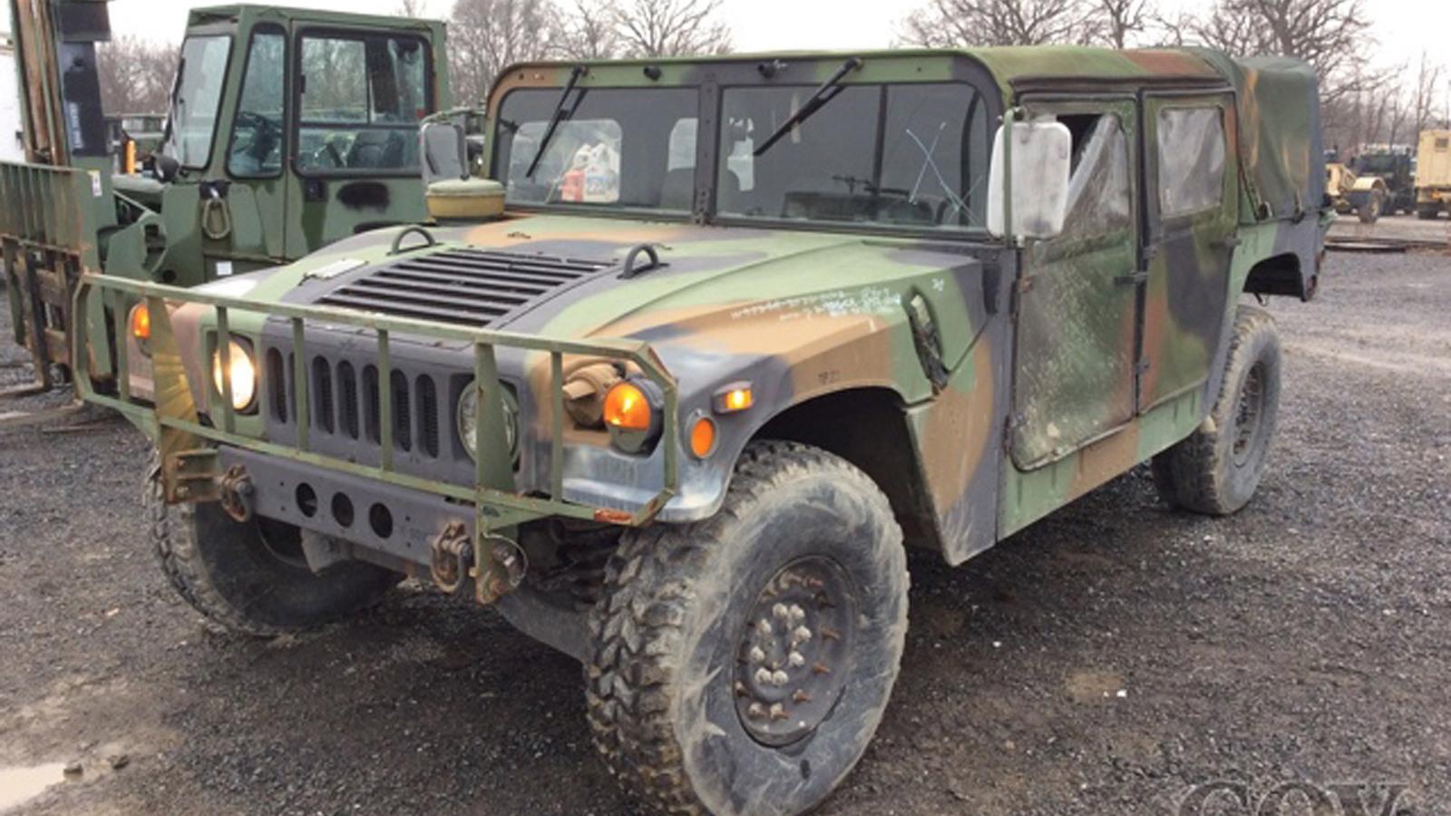Army surplus Humvee - Image via GovPlanet
